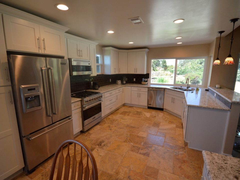 complete kitchen remodel and flooring